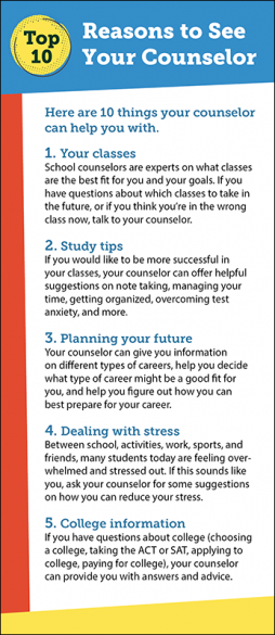 Top 10 Reasons to See Your Counselor