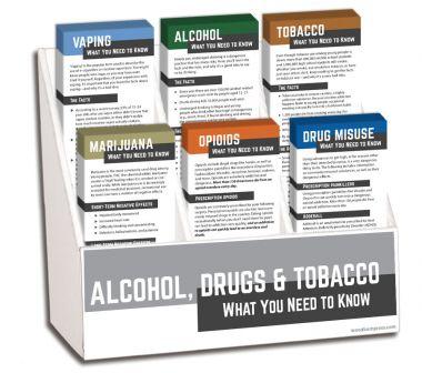 Alcohol, Drugs & Tobacco Rack Card Display Package
