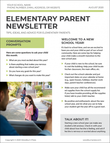 Elementary Parent Newsletter