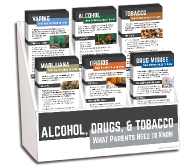 Alcohol, Drugs & Tobacco Parents Rack Card Display Package