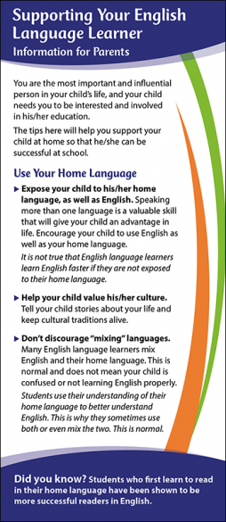Supporting Your English Language Learner