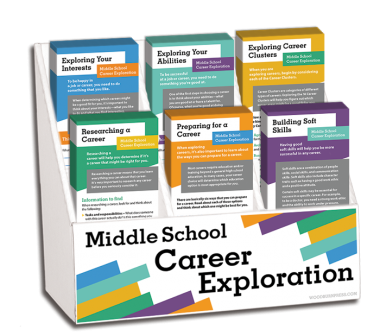 Middle School Career Exploration Rack Card Display Package