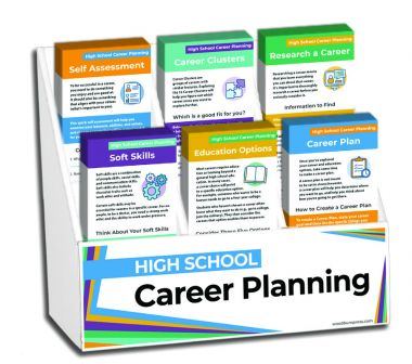 High School Career Planning Rack Card Display Package