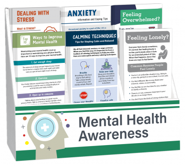 Mental Health Awareness Rack Card Display Package