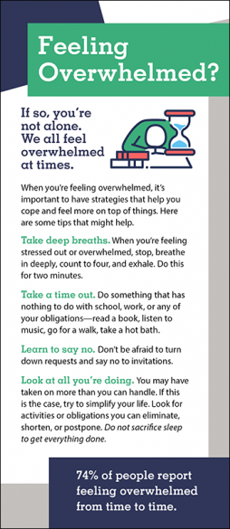 Mental Health Feeling Overwhelmed Rack Card Handout