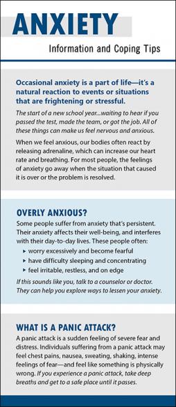Mental Health Anxiety Rack Card Handout