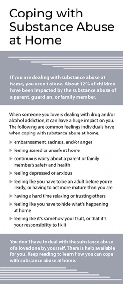 Mental Health Coping with Substance Abuse at Home Rack Card Handout