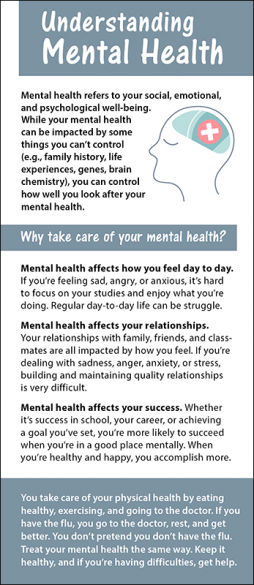 Understanding Mental Health Rack Card Handout