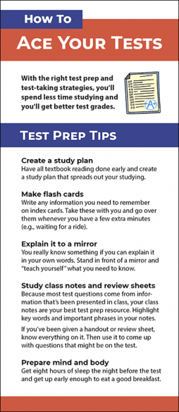 How to Ace Your Tests Rack Card Handout