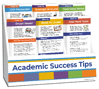 Academic Success Tips Rack Card Display Package