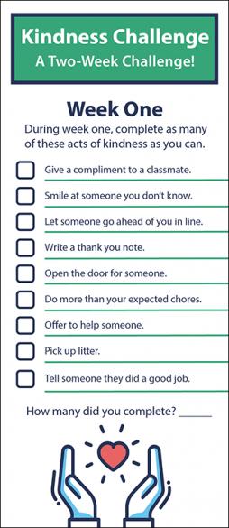 Kindness Challenge Rack Card Handout