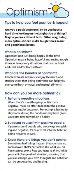 Optimism Rack Card Handout