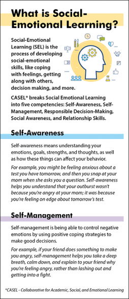What is Social-Emotional Learning Rack Card Handout