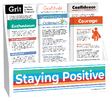 Staying Positive Rack Card Display Package