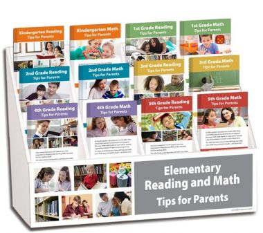 K - 5th Grade Reading and Math Rack Card Display Package