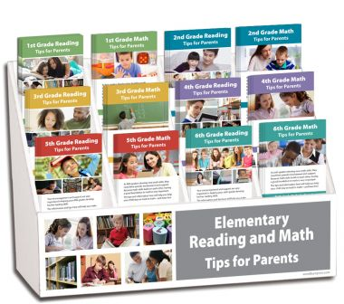 1st - 6th Grade Reading and Math Rack Card Display Package