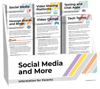 Social Media and More - Information for Parents Rack Card Display Package