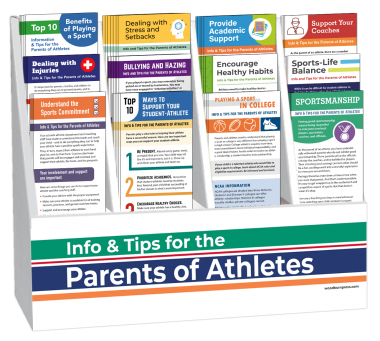 Info & Tips for the Parents of Athletes Rack Card Display Package