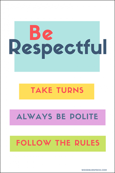 Be Respectful Poster