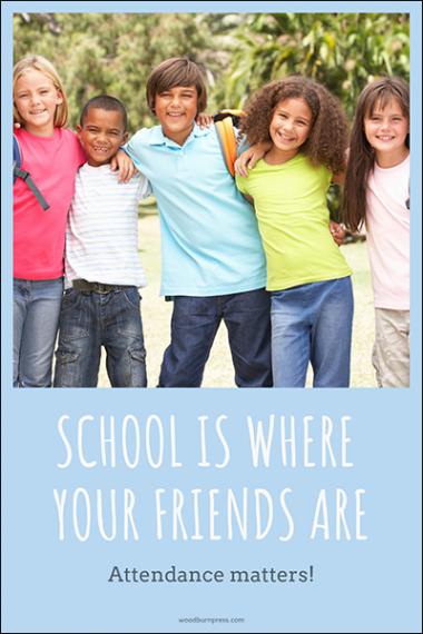 Attendance Matters Elementary Poster