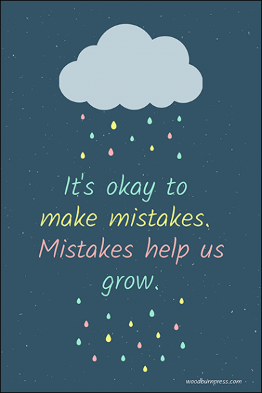 It's Okay to Make Mistakes Poster