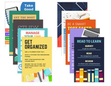 Study Skills Poster Package