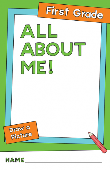All About Me First Grade Activity Book