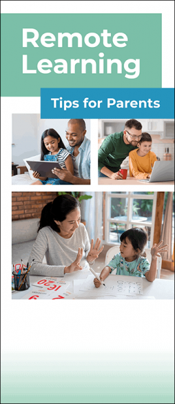 Remote Learning Tips for Parents Pamphlet Handout