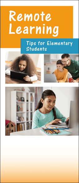 Remote Learning Tips for Elementary Students Pamphlet Handout