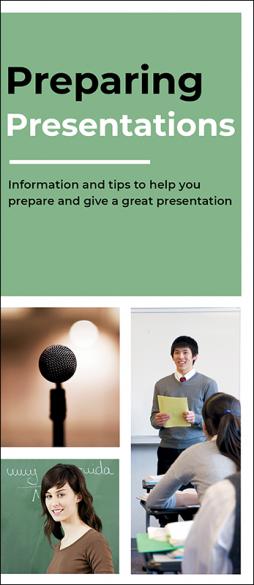 Preparing Presentations Pamphlet Handout