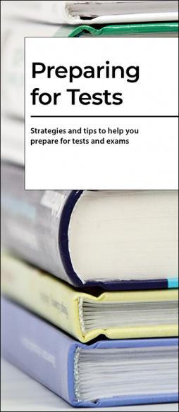 Preparing for Tests Pamphlet Handout