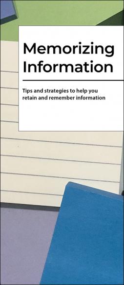 Memorizing Information Pamphlet Handout