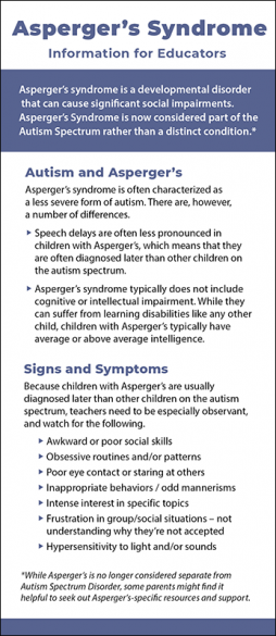 Asperger's Syndrome - Information for Educators