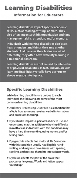 Learning Disabilities - Information for Educators