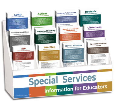 Special Services Information for Educators Rack Card Display Package