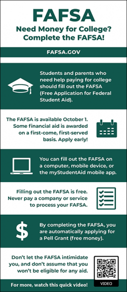 FAFSA Rack Card Handout