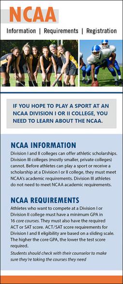 NCAA Rack Card Handout