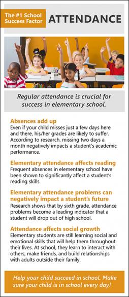 Elementary Attendance Rack Card Handout