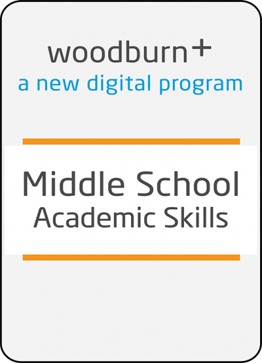 Woodburn Plus Middle School Academic Skills Digital Resources Package