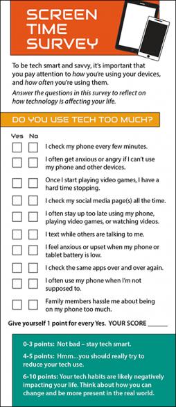 Screen Time Survey Rack Card Handout