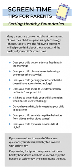 Screen Time Tips for Parents Rack Card Handout