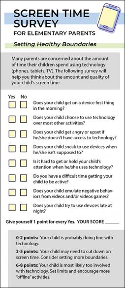 Screen Time Survey – Elementary Parent