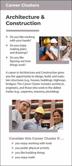 Career Clusters - Architecture & Construction Rack Card Handout