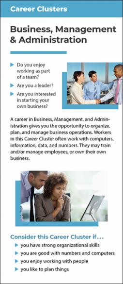 Career Clusters - Business, Management & Administration Rack Card Handout