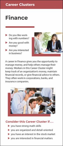 Career Clusters - Finance Rack Card Handout