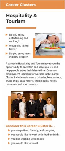 Career Clusters - Hospitality & Tourism Rack Card Handout