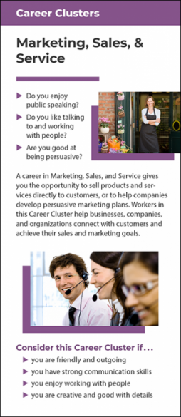 Career Clusters – Marketing, Sales and Service