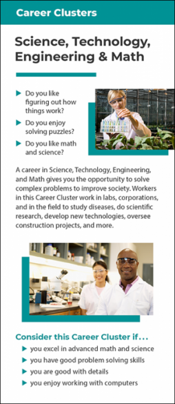 Career Clusters – Science, Technology, Engineering and Mathematics