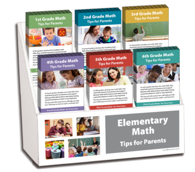 1st- 6th Grade Math Rack Card Display Package