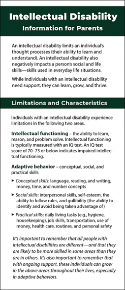 Intellectual Disability - Information for Parents